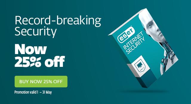ESET Internet Security 25% Off